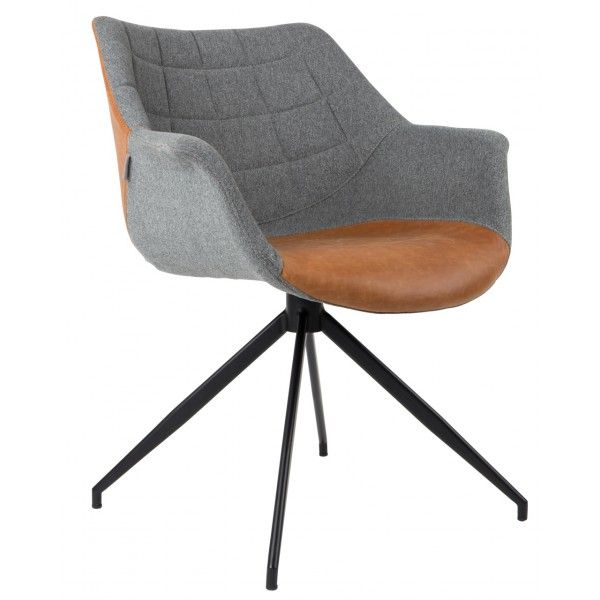 Stoel Doulton Zuiver - vintage bruin kunstleer - DesignOnline24