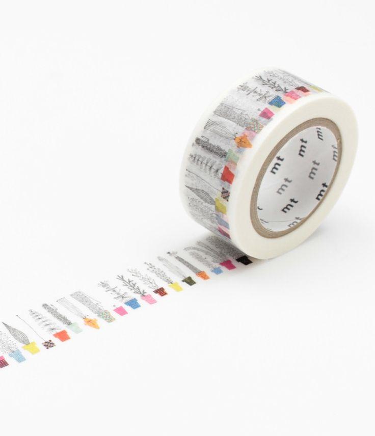 Masking Tape MT Single Rolls - Almedahls 'Italian Flower Shelf' - MT x Artist Series - Masking Tape MT - Telegram Paper Goods