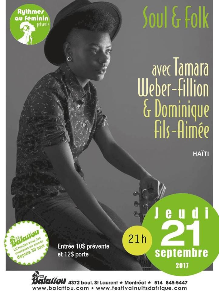 Tamara Weber-Fillion & Dominique Fils Aimé @ Club Balattou 21.09.2017 #musicjunkies