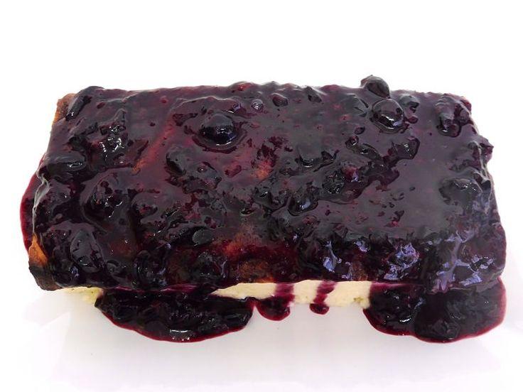 PUNTXET Cheesecake fácil con compota de arándanos casera #cheesecake #cake #tarta #homemade #receta #recipe