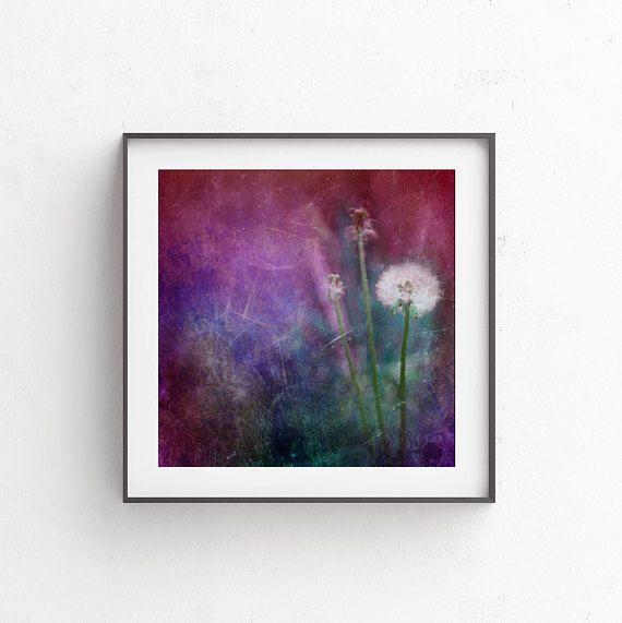 Dandelion wall art dreamy photography 12x12 art printable