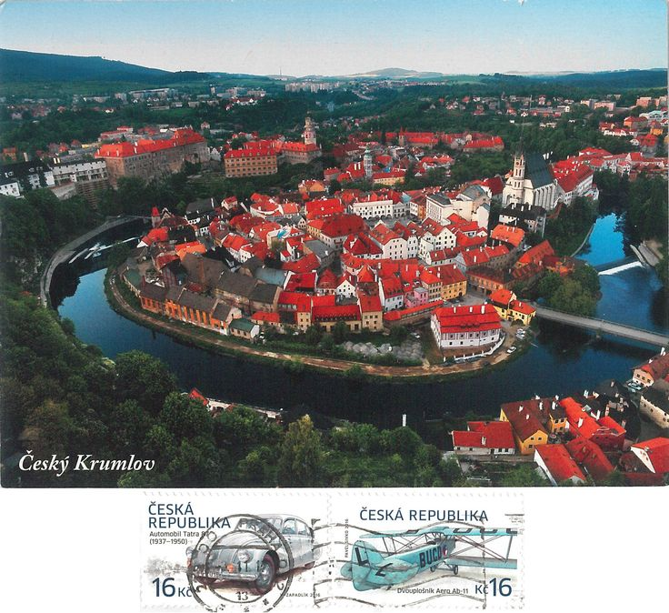 Arrived: 2017.11.09 - From a very kind Hungarian friend   ---    Český Krumlov  is a town in the South Bohemian Region of the Czech Republic. Its historic centre, centred around the Český Krumlov Castle, is a designated UNESCO World Heritage Site since 1992.