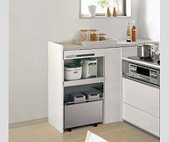 家電をすっきりと収納したい- ダイニングとの間仕切りにする - | 家電をすっきりと収納したい | 収納 | キッチンの困りごとを解決する | わが家のキッチン選び | システムキッチン・キッチン関連商品 | Panasonic