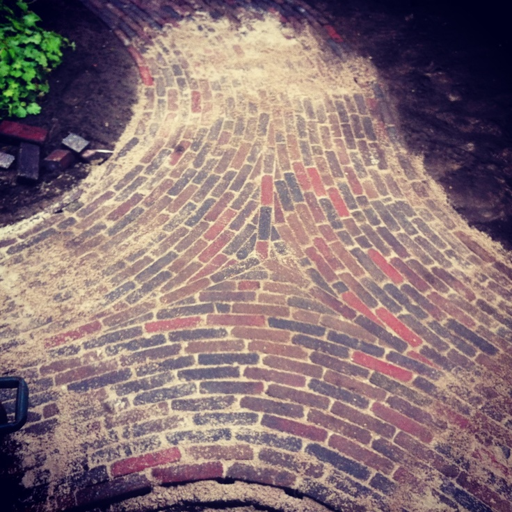 Knooppunt van 3 paden, beton klinkers!!