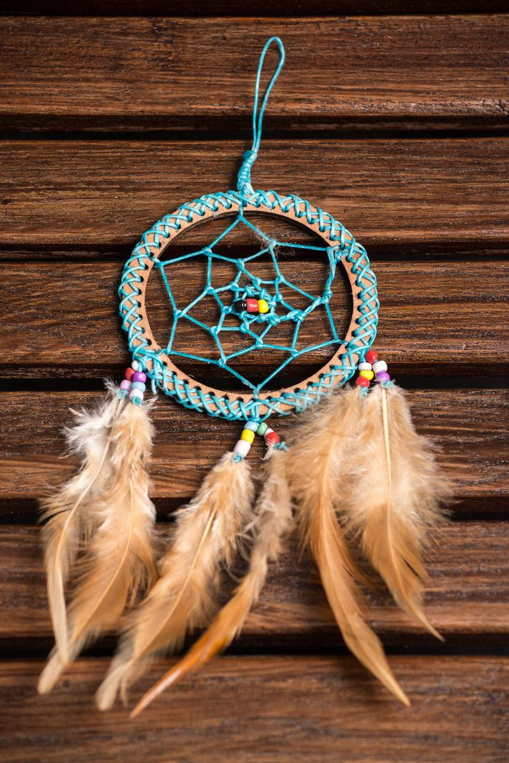 Hand Made Small Dream Catchers With Feathers Turquoise