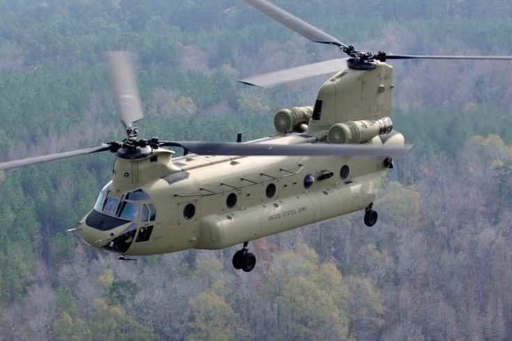 O Boeing CH-47F Chinook é um helicóptero de carga, utilizado recentemente nas guerras do Iraque e Afeganistão pelos Estados Unidos Divulgação/Boeing
