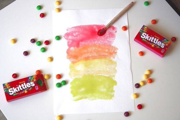 Fun Crafts for Kids to Make | DIY Glossy Paint from Skittles | DIY Projects & Crafts by DIY JOY at http://diyjoy.com/pinterest-crafts-for-kids-diy-paint