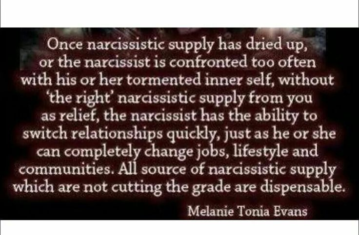Narcissistic supply. A recovery from narcissistic sociopath relationship abuse.