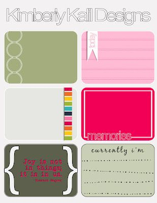 Free Printable Journaling / Project Life Cards