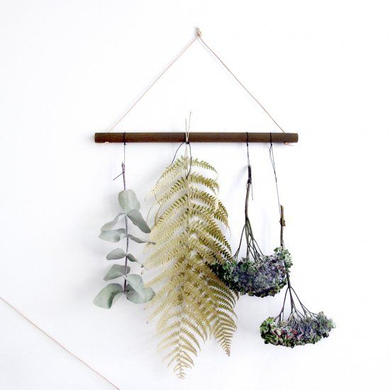 Exhibit your dried flowers in your home. It's trendy to live with plants and you can dry your own flowers beautifully.