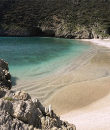 Armirihi Beach, Evia. Just the right number of people on the beach before you get there...none!