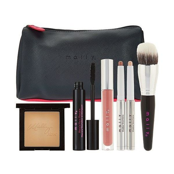 Mally The Good Life 6-piece Color Collection ($61) ❤ liked on Polyvore featuring beauty products, makeup, mally beauty products, mally cosmetics, powder foundation makeup, mally makeup and long wear makeup