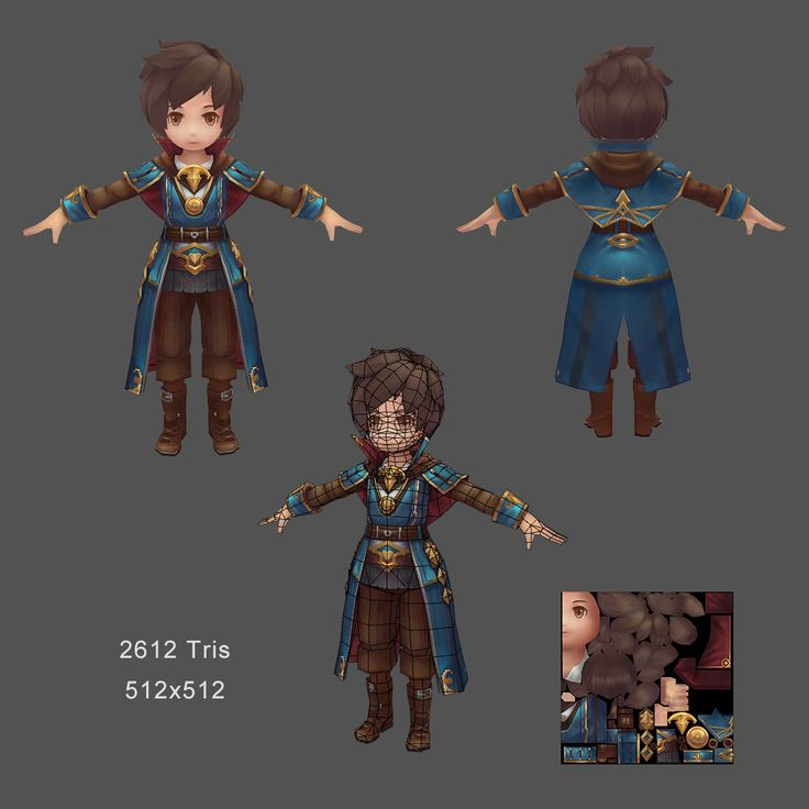 ArtStation - mobile_game_boy_model, Chengjie Wang