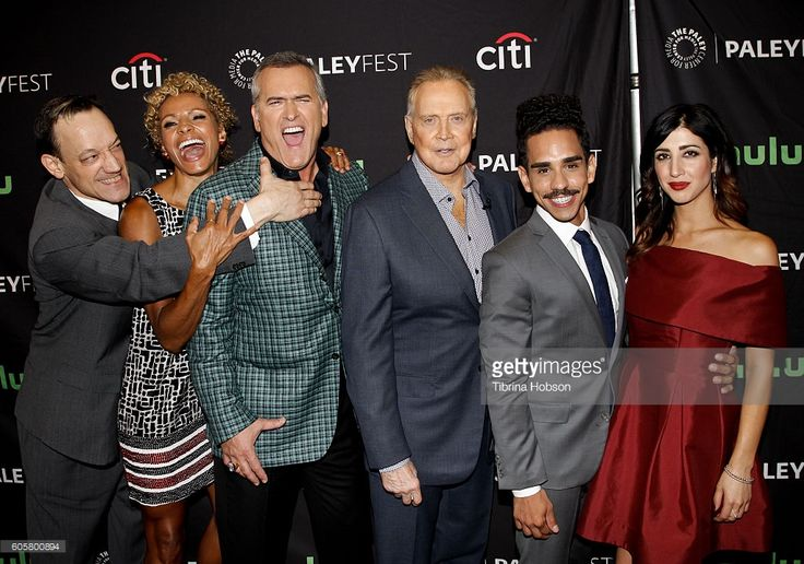 Bruce Campbell, Lee Majors, Ted Raimi, Michelle Hurd, Ray Santiago and Dana DeLorenzo attend The Paley Center for Media PaleyFest 2016 fall TV preview for STARZ at The Paley Center for Media on September 14, 2016 in Beverly Hills, California.