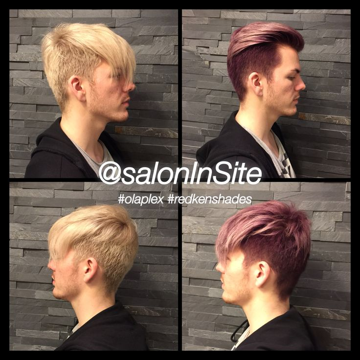 Michaels hair is colored with Redken ShadesEQ  I have been using 06V on the roots, sides, neck and 3 foils on the top. The rest of the hair is colored with 09V... There is also Olaplex in the color