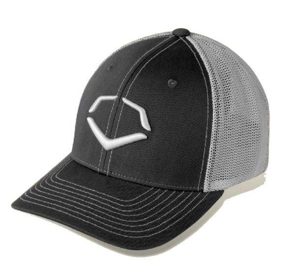 Evoshield Men's Speed Stripe Mesh Flesh Fitted Hat, Black/Gray 1036380 (S/M)
