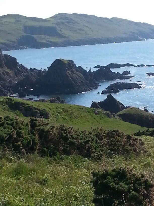 Coastal path between Lee and Morthoe in North Devon, stunningly beautiful