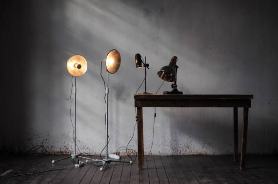 Soviet metal floor lamp  Height adjustable — from 1 meter to 2 meters (40—80 inch)  Long cable - 4 meters (150 inch) in cloth braid with floor switch (not pictured)  Easily disassembled without special tools, also has a small weight  You can choose an electric plug before buying: — USA 110V — EU 220V  Standart delivery: America - 15-20 business days Europe 10-15 b days Australia - 20-25 b days Other countries - 15-25 b days  EXPRESS COURIER TO DOOR DELIVERY:  America - 5-15 business days…