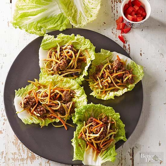 Looking for a low-carb appetizer or a healthy, light meal? Try a lettuce wrap! Lettuce wraps are like a handheld salad and packed with protein. Take a look at our best lettuce wrap ideas filled with flavors that you'll want to make for lunch tomorrow.