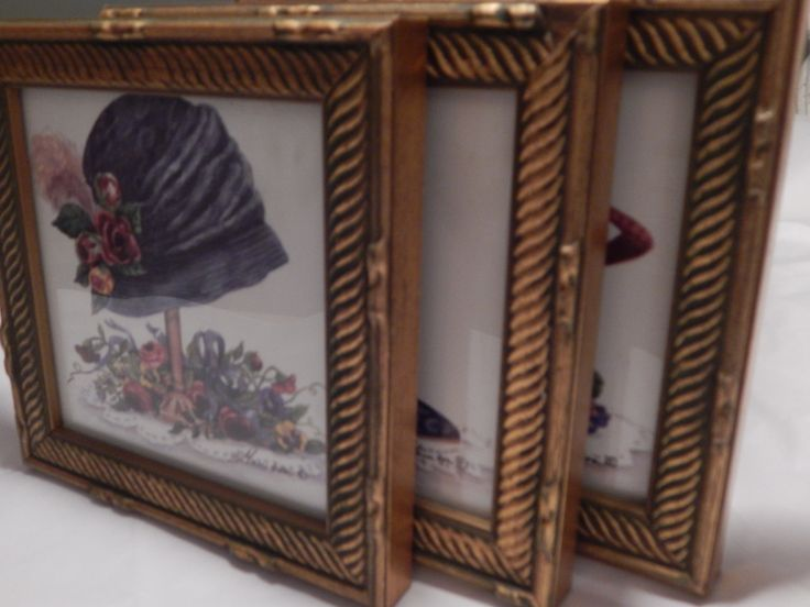 Victorian Artwork. Set of Three framed Victorian images, One Grey  Victorian Shoe, One Blue Cloche, and one Red Velvet Victorian Hat by EklecticKollections on Etsy