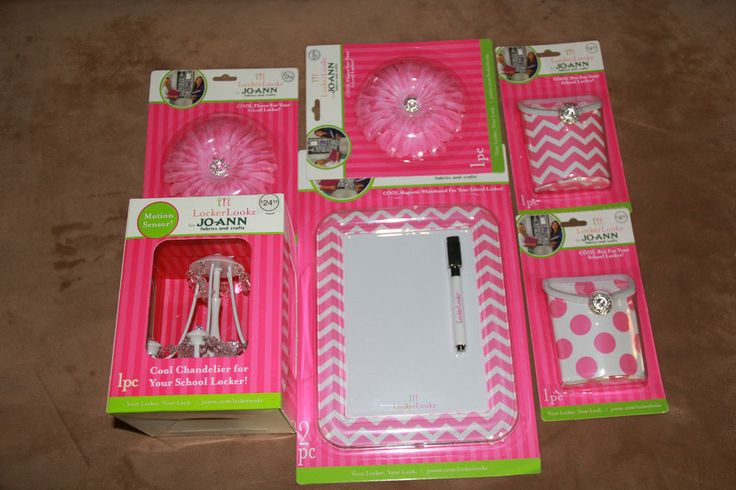 NIB Lot - Locker Lookz Locker Accessories, incl Chandelier & Locker designs