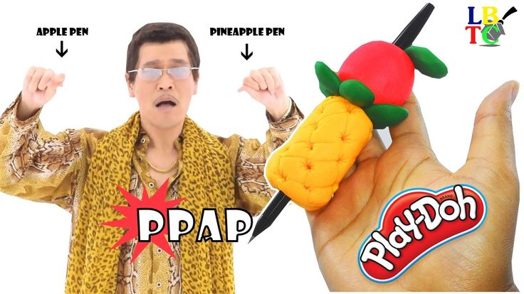 DIY How To Make Play Doh PPAP (Pen Pineapple Apple Pen) - Play Dough Fun...