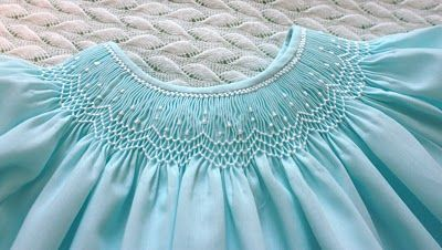 LOVE the color!  Free smocking design, too!