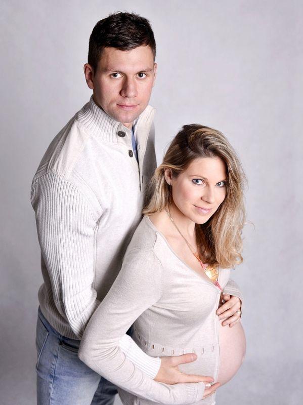 Těhotenská, portrétní fotografie