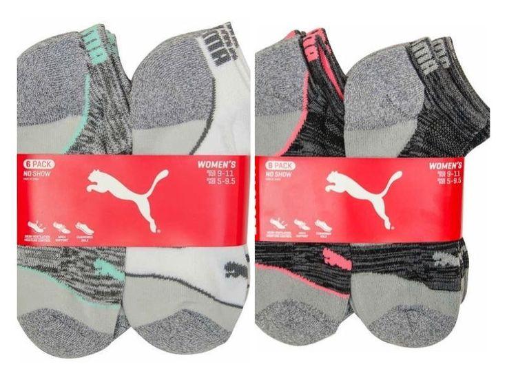 Puma Ladies' No Show Socks 6-Pair Pack 9-11