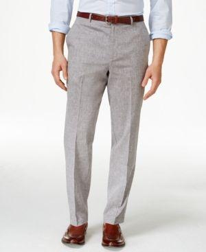 Tasso Elba Men's Linen Pants, Only at Macy's -