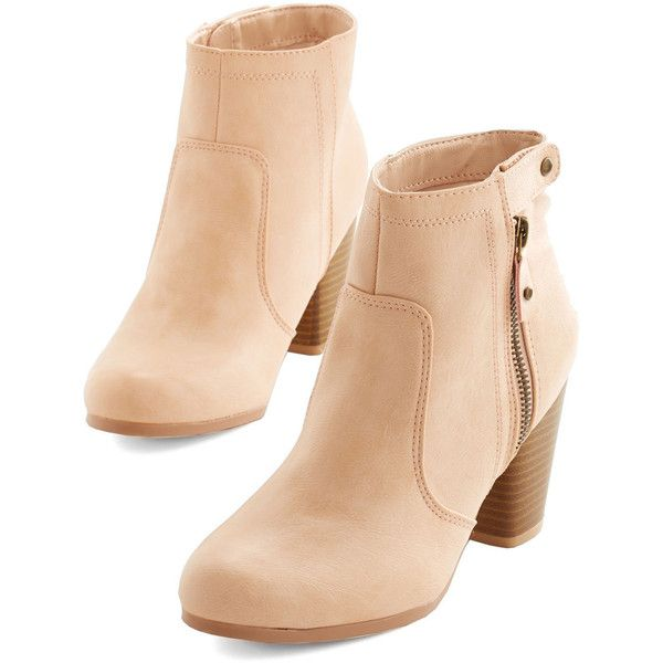 Manhattan Stride Bootie featuring polyvore, fashion, shoes, boots, ankle booties, booties, heels, zapatos, pink, boot - bootie, bootie, heeled bootie, heeled ankle boots, bootie boots, pink ankle boots, short heel boots and stacked heel bootie