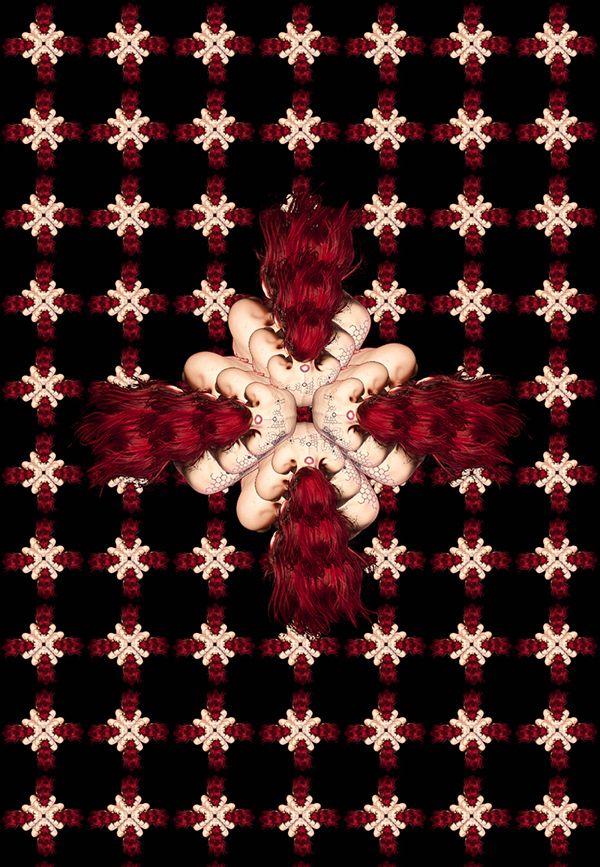 Red Head by Mani Świątek, via Behance