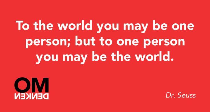 Voor wie ben jij de wereld?