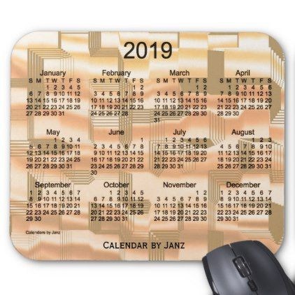 2019 Sunset Tiles Calendar by Janz Mouse Pad - birthday diy gift present custom ideas
