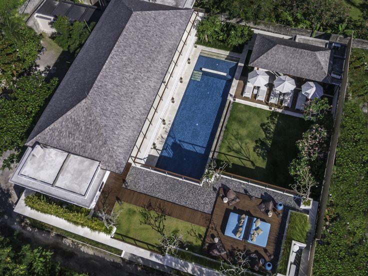 Aerial view - Villa Candrawasih Bali http://prestigebalivillas.com/bali_villas/villa_cendrawasih/50/