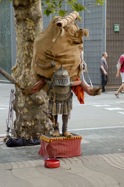 Street performer, Barselona, Spain | Flickr - Photo Sharing!