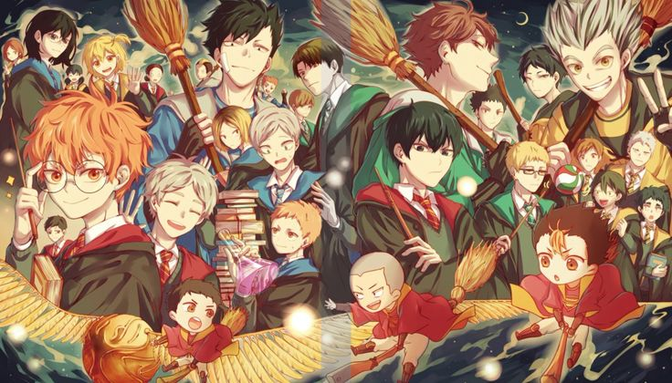 Oh my gosh! This is the best Haikyuu x Harry Potter crossover I've ever seen!!