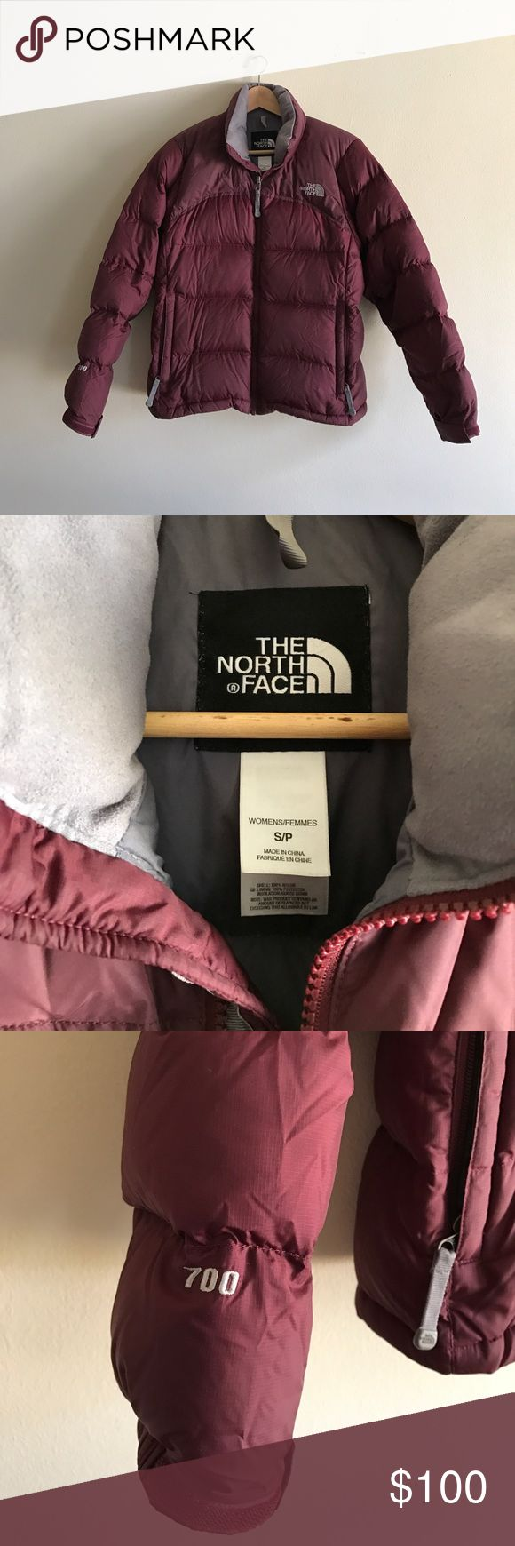 The North Face Nuptse Jacket in Maroon Excellent condition. Reposh only because it's too big 😭. I love the color so much! 700 fill goose down. The North Face Jackets & Coats Puffers