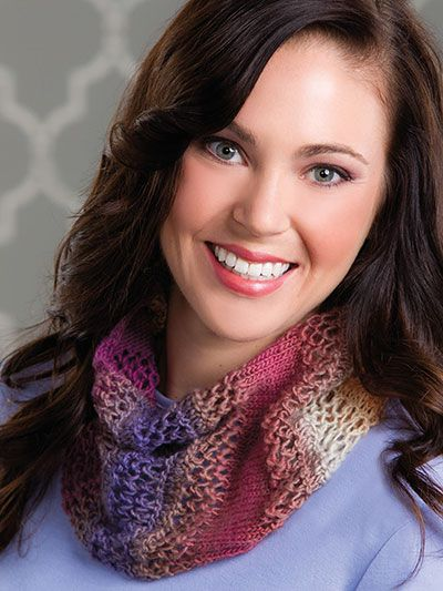 Quickie Cowl Knitting Pattern : Quickie Mesh Cowl / beautiful! & love the colours / 25