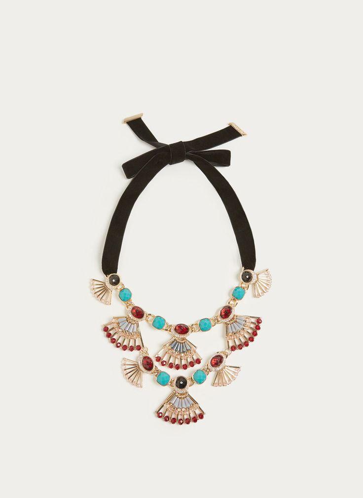 Necklace with fan pendants - Necklaces - Jewellery - Uterqüe United Kingdom