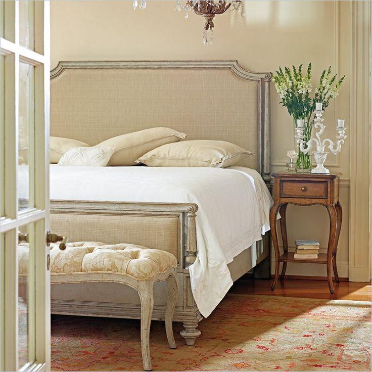 Stanley Furniture Arrondissement Palais Upholstered Bed 3 Piece Bedroom Set In Vintage Neutral