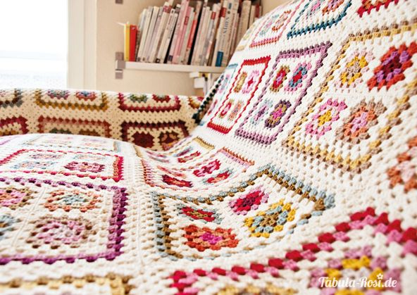 Granny Blanket – endlich fertig! – Tabula Rosi