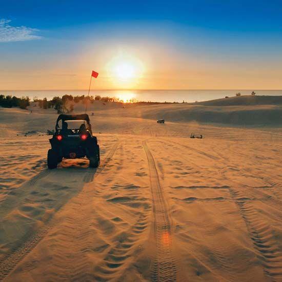 Beach in Silver Lake Sand Dunes, Michigan