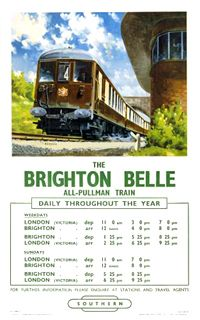 The Brighton Belle All-Pullman Train Timetable