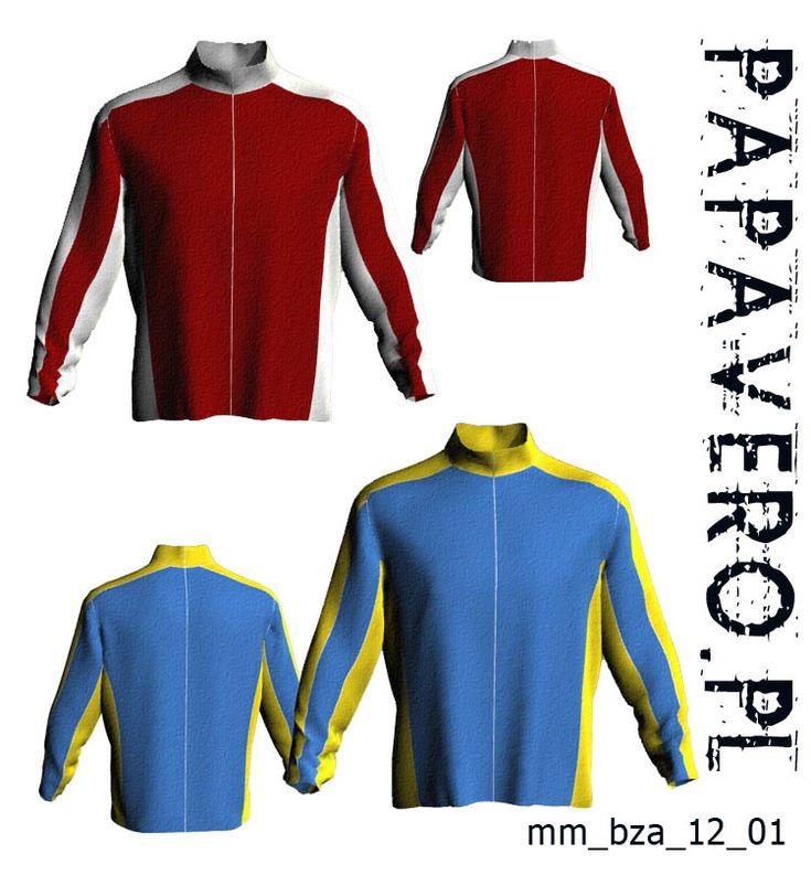 Mens active Fleece Shirt FREE sewing pattern. Polish language