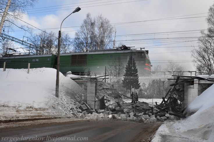 Soviet-Finnish War (1939-1940). Destroyed railway bridge in Terijoki / Zelenogorsk, 1939/2011