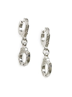Here are handcuff earrings to go with the handcuff cufflinks.  Sydney Evan Diamond Handcuff Earrings #fiftyshades