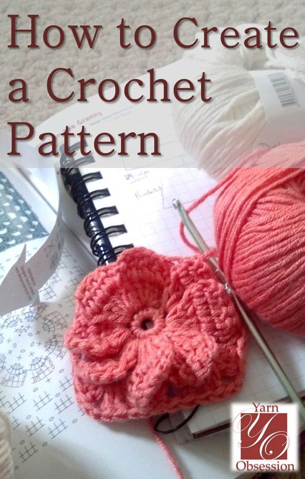 Yarn Obsession How to Create a Crochet Pattern part one (subsequent parts are linked on page)