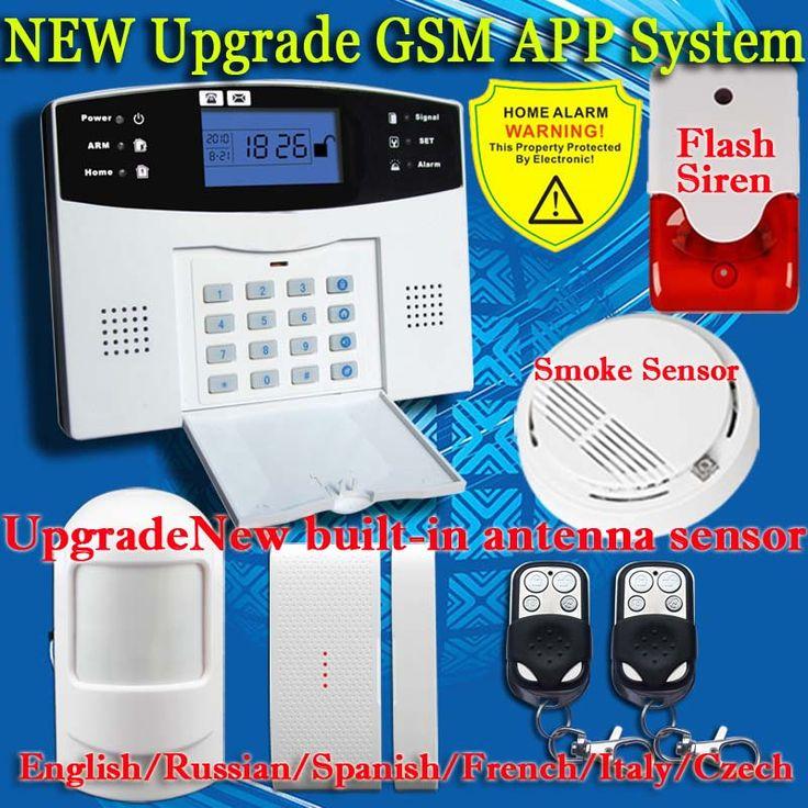 99 Wireless 7 wired GSM SMS Sistema de Alarma Antirrobo GSM de control Remoto Sensor de Humo de Incendios Protección de la Seguridad Casera de Control Remoto