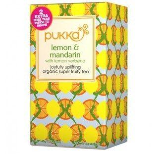 Pukka Herbs Lemon and Mandarin Tea. Organic & Delicious | My Natural Necessities